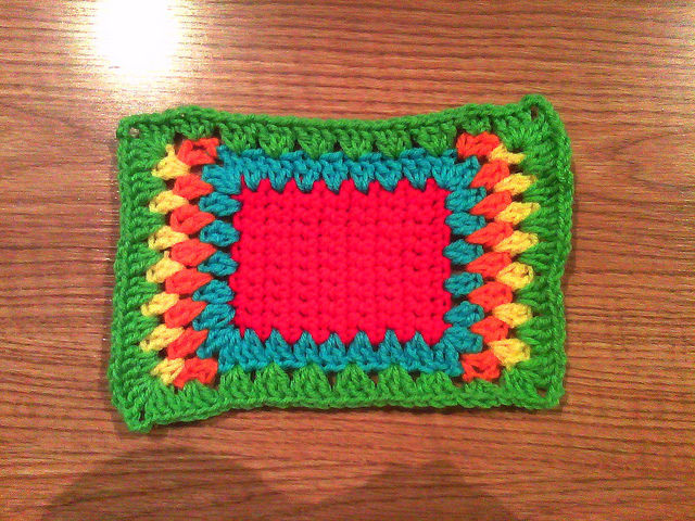 variation on a crochet granny square D-1