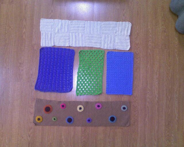crochet shelf and crochet drawer liners