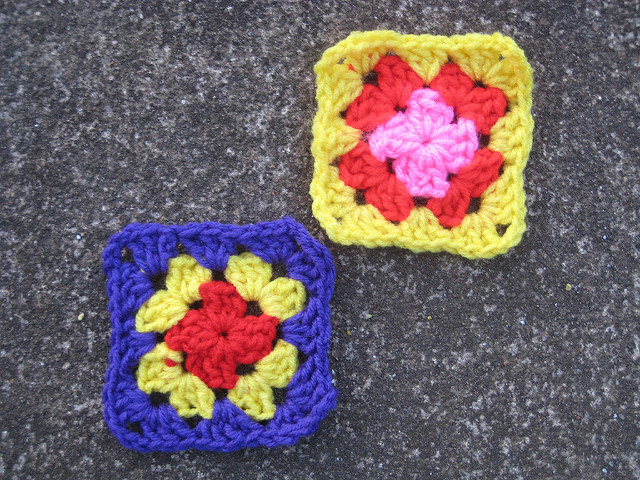 Half of the future crochet Square A-2