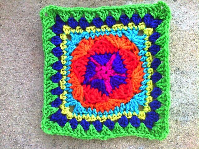 crochet granny square free pattern
