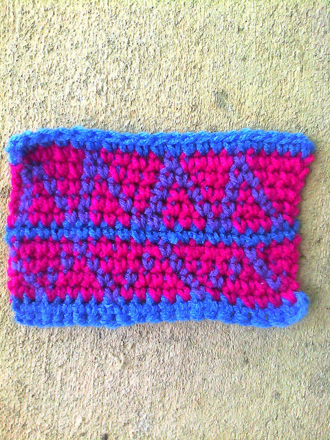 crochet square D-5 without a border