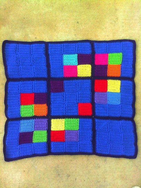 Crochet sudoku blanket