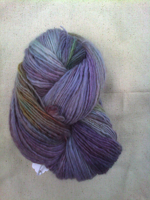 A very good crochet day gift of handspun, hand-dyed wool yarn