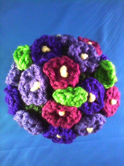 crochet African flower plant