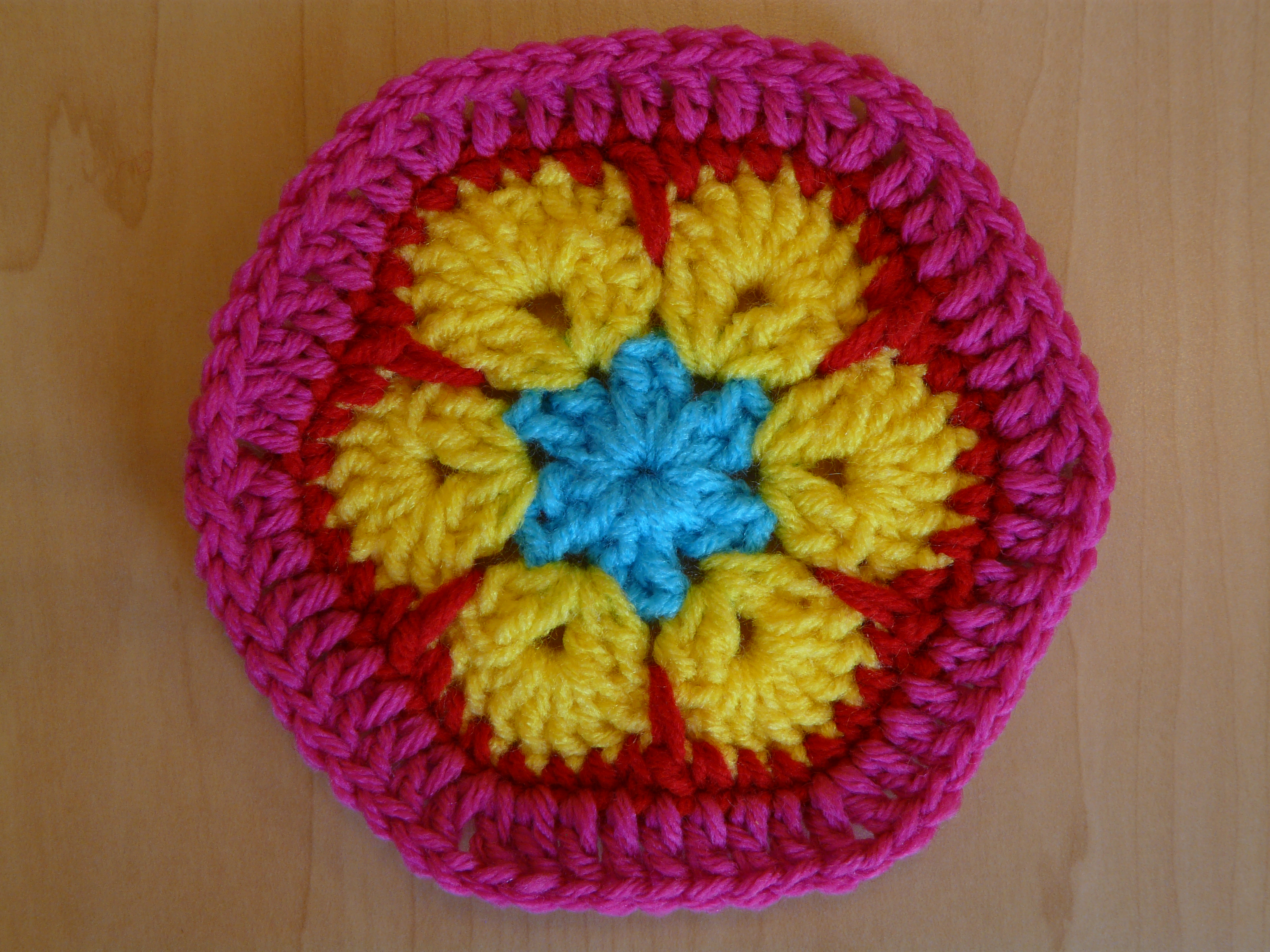 African Flower Crochet Pattern Half : african flower half hexagon Archives - Crochetbug