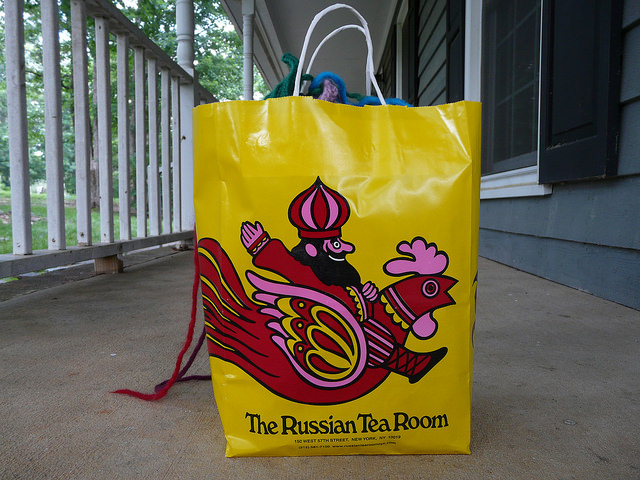 The return of the the big rug comes galloping in on a Russian Tea Room chicken