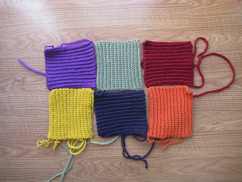 textured crochet squares