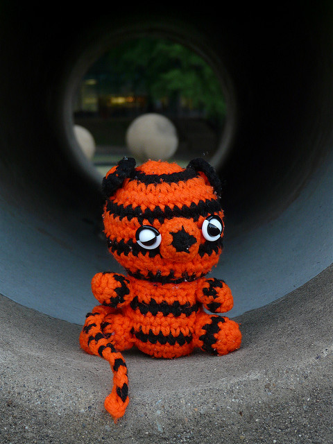 crochetbug, crochet tiger, amigurumi tiger, crochet toy, diy toy, washington dc, fourth of july