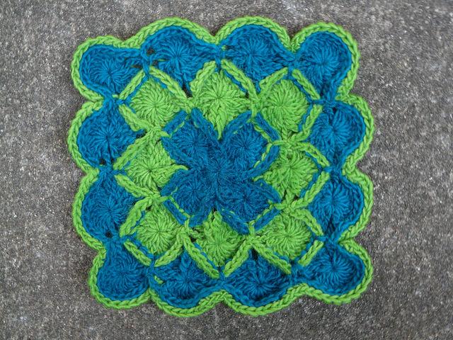 Crochet Wool-Eater Trivet for electronic gadgets