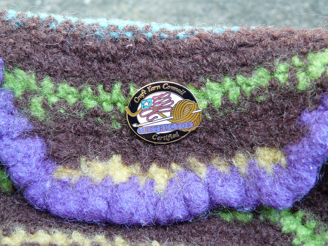 CYCA certified crochet instructor pin