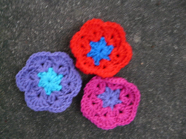 crochet flower hexagon