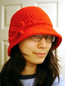 Eileen Tepper's Nubby Brim Cloche which I am adding to my crochet bucket list