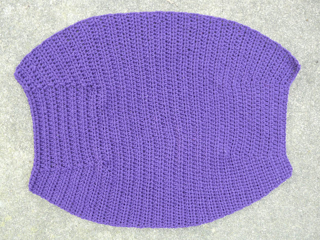 body of a crochet fat bag