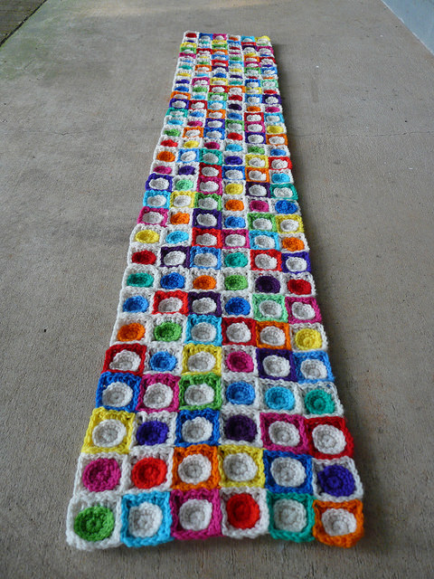 Row six: the long view of the fits and starts that are my 2016 state fair crochet project