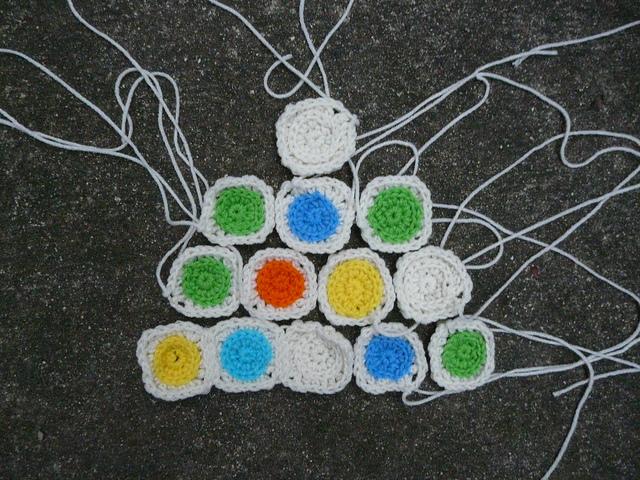 thirteen crochet squares