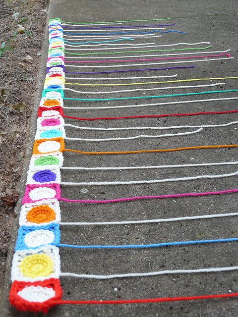 crochet circles crochet squares