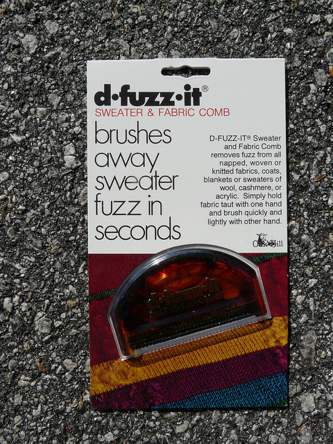 fuzz buster, crochetbug, sweater comb, fabric comb
