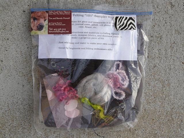crochetbug, fiber festival, felting kit, nuno felting kit
