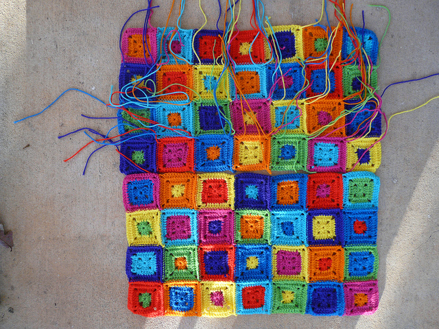 My pursuit of mindful crochet leads me to ninety, new, unwoven ends for my future crochet cat runner