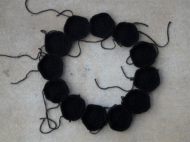 crochetbug, crochet soccer ball, crochet ball, crochet pentagon, african flower crochet hexagons