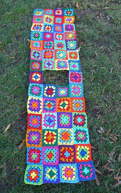 crochetbug, crochet squares, granny squares, crochet dress, stash buster, go-go dress