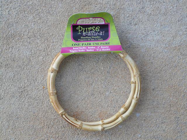 bamboo ring purse handles