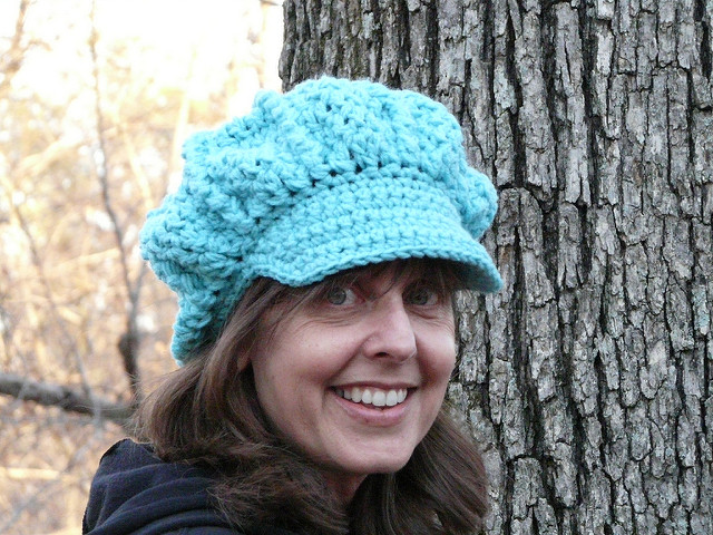 crochet newsboy hat, crochetbug, tepperwear, crochet hat