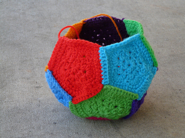 crochet pentagons dodecahedron