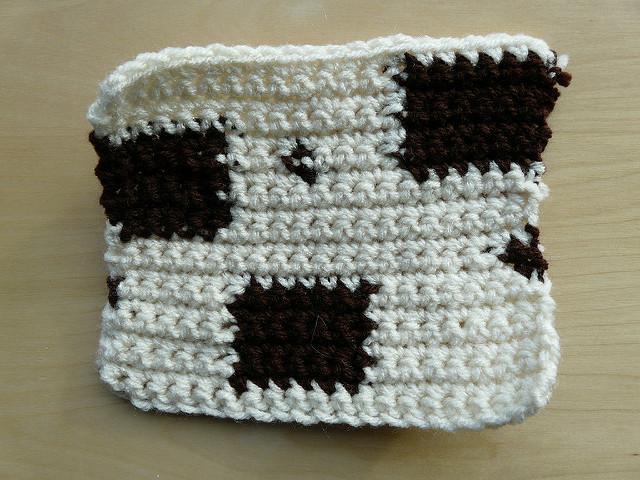 practice crochet swatch, crochetbug, crochet squares, crochet square