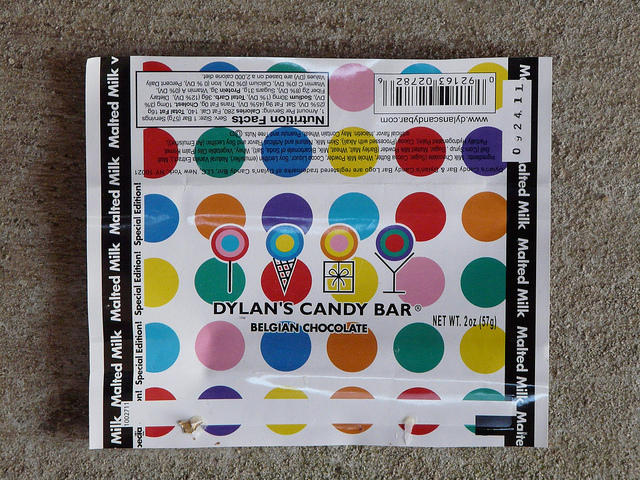 crochetbug, crochet, candy bar wrapper, dylan's candy bar, crochet color inspiration