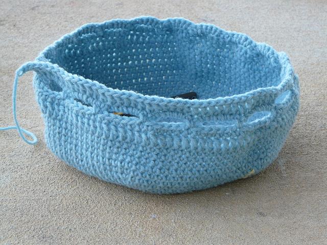 crochet bag crochet stash basket