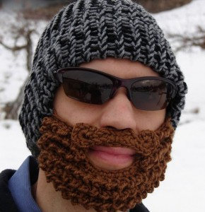 crochet beanie and crochet beard