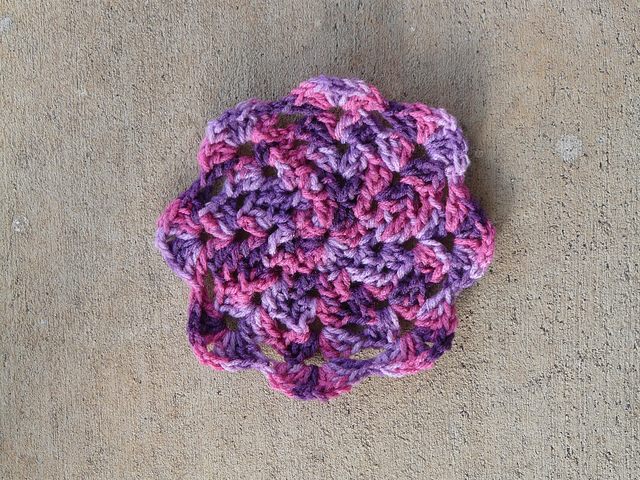 crochet square crochet star center