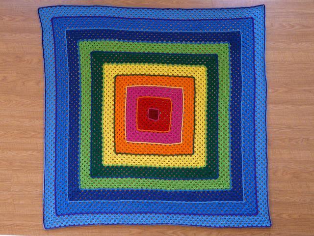 concentric crochet granny square