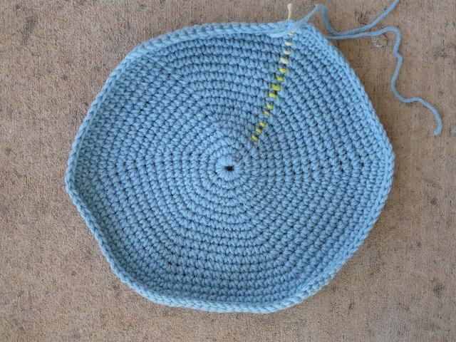 crochet bag stash basket