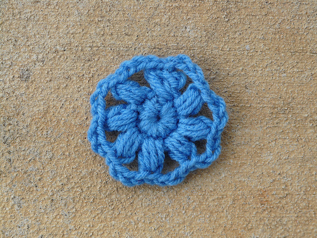 crochet flower center