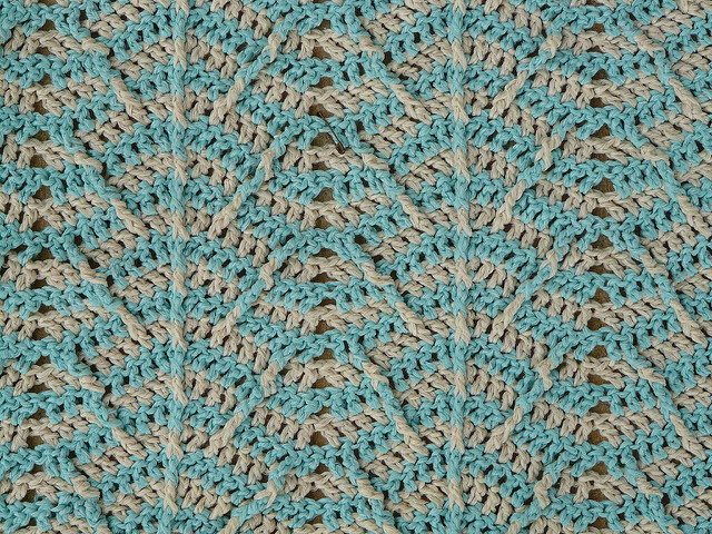 detail crochet ripple pattern