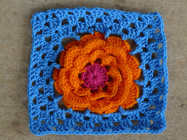 crochet blanket crochet flower motif