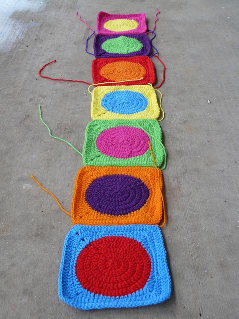 crochet dot strip crochet blanket crochet afghan