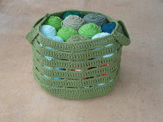 crochet bag crochet basket yarn stash