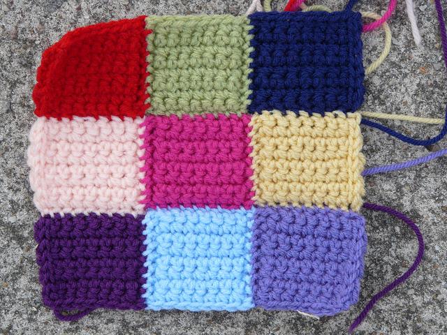 crochetbug, crochet square, crochet squares, crochet block, crochet blocks, crochet bauhaus block