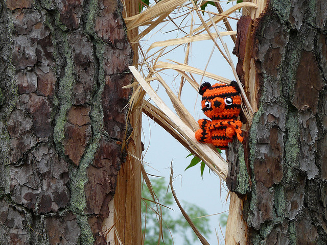 crochetbug, crochet tiger, amigurumi tiger, crochet toy, wilson, north carolina tornado