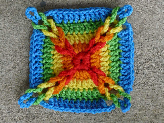 crochet loops square 81