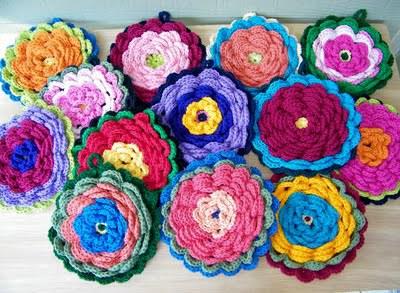 crochetbug, crochet potholders, crochet pot holders, crochet flowers, crochet flowers