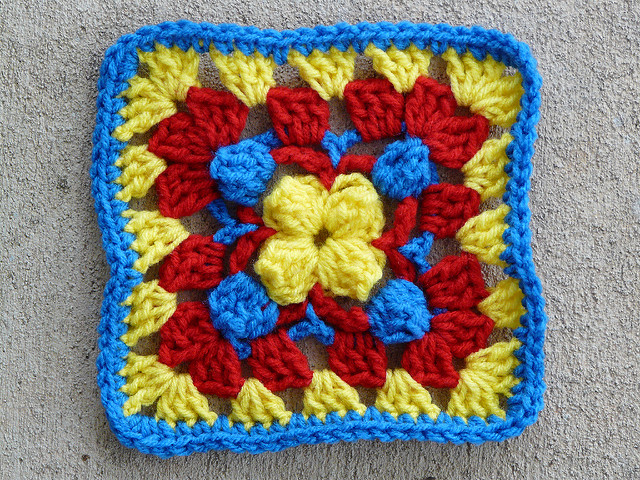 crochet square 74