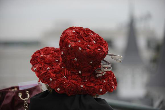 One of the remarkable hats seen at a day at the races