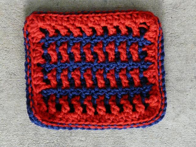 interlocking crochet swatch