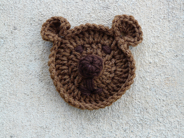 Crochet teddy bear face