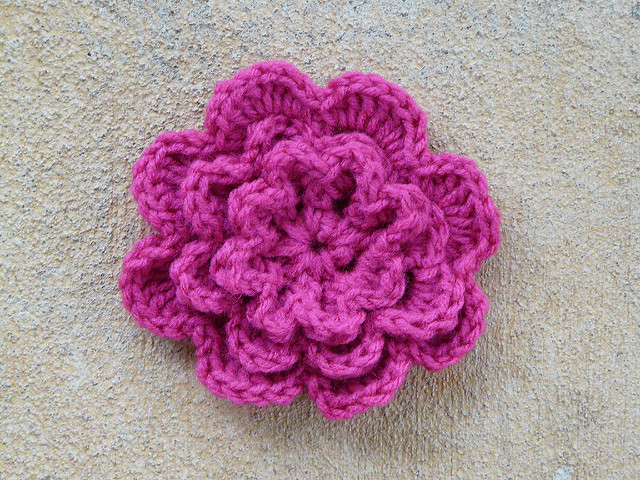 textured crochet flower