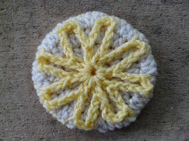lemon shortbread crochet cookie